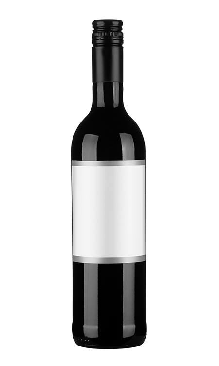 Bouteille de vin rouge sans alcool