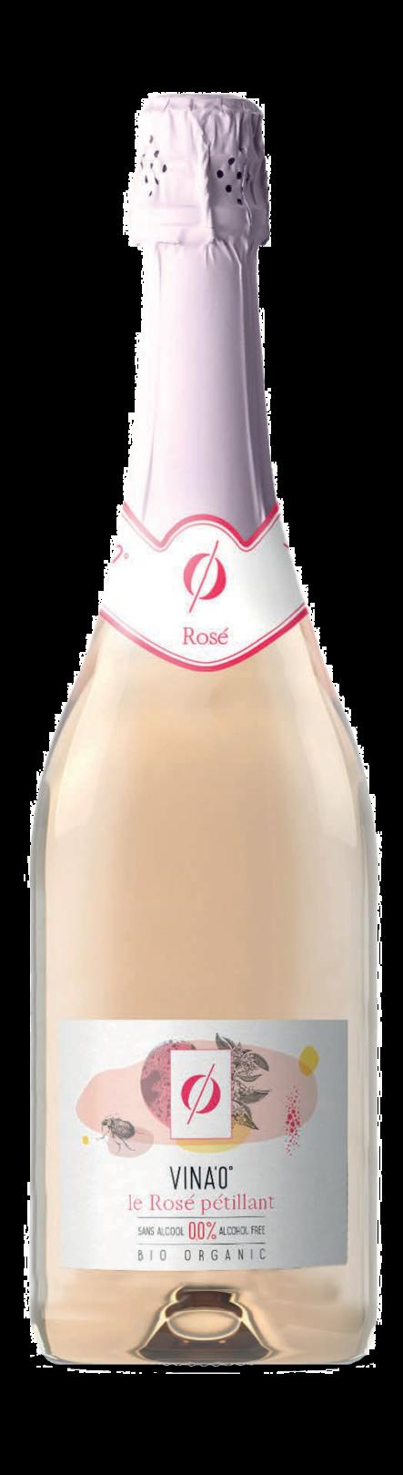 Rosé pétillant bio sans alcool