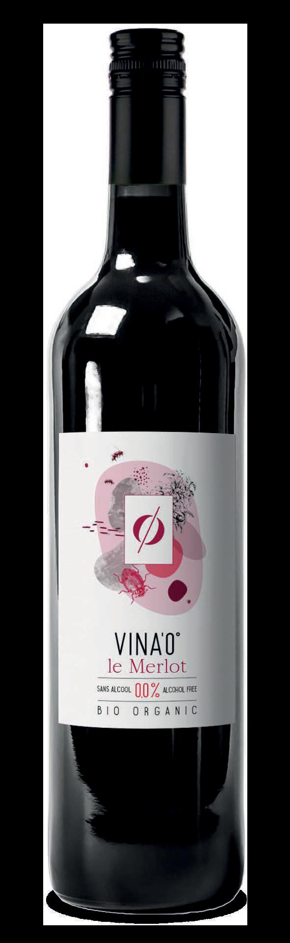 Vin Bio Merlot rouge sans alcool
