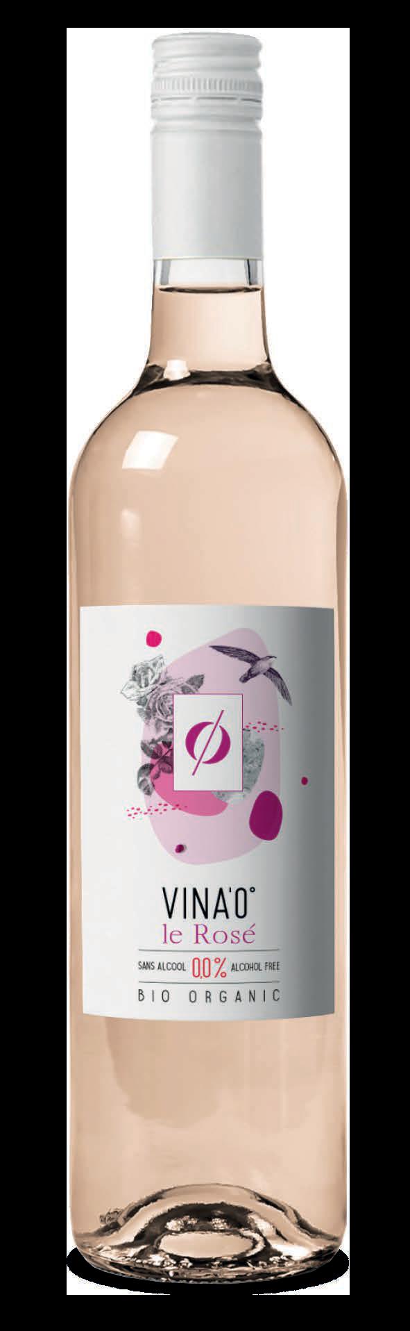 Vin rosé Bio sans alcool
