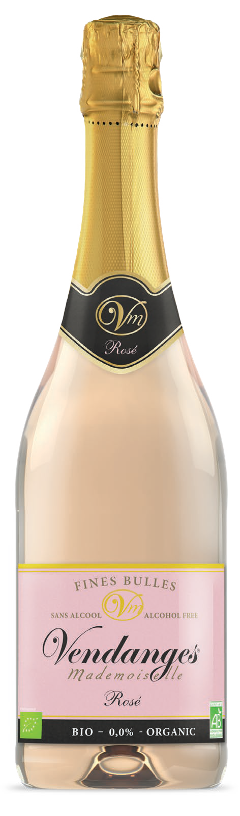 Alcohol free rosé champagne