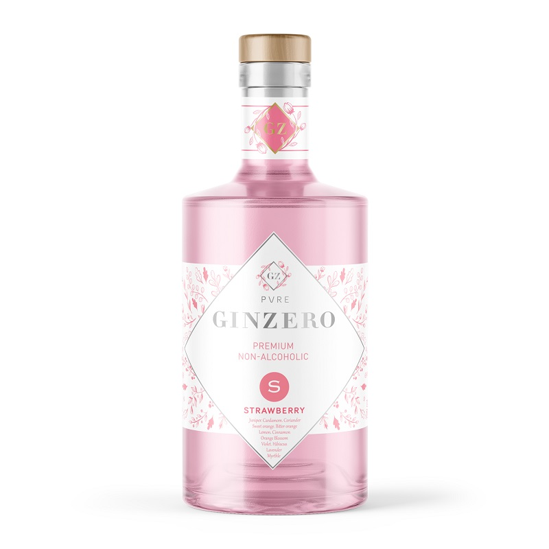alcohol free gin strawberry
