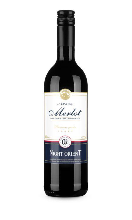 Night Orient vin rouge Merlot sans alcool
