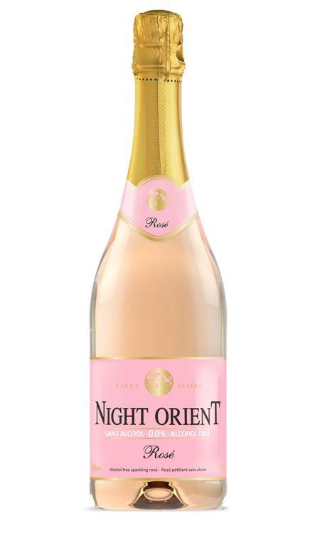 Night orient vin mousseux rose sans alcool