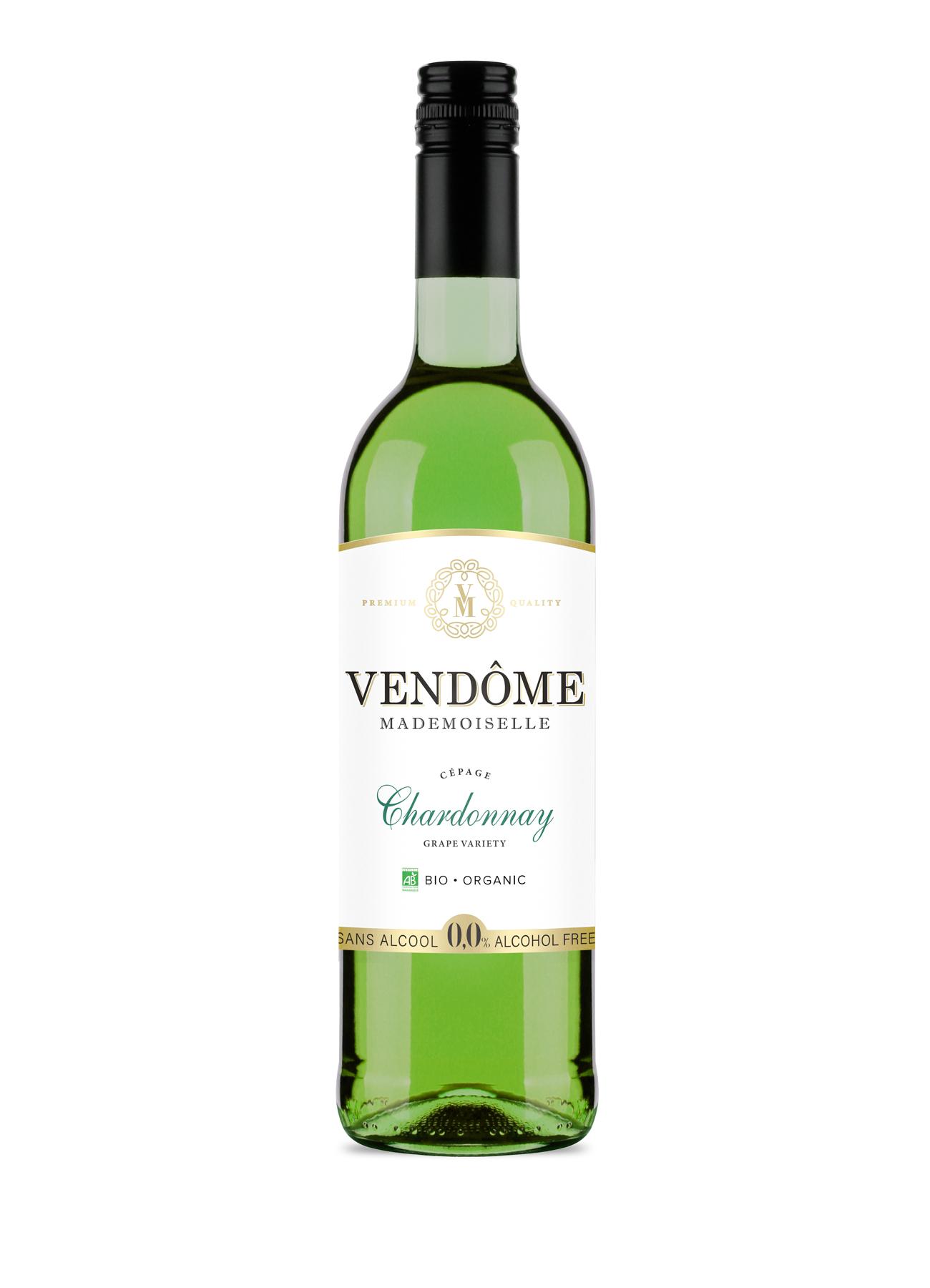 Vendome vin blanc Chardonnay sans alcool bio
